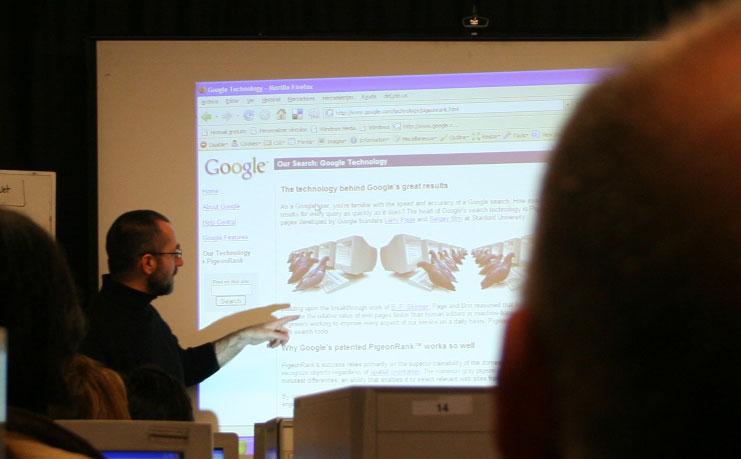 James Ballantine, de Google Chile, en el ICEI