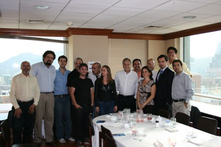 Sebastián Piñera y Bloggers